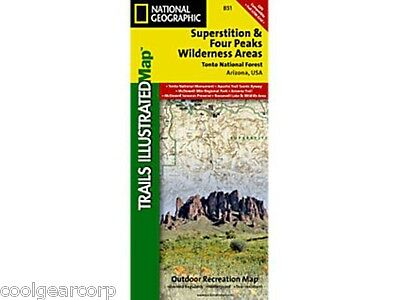 National Geographic Trails Illustrated AZ Superstition/Four Peaks Wilderness 851