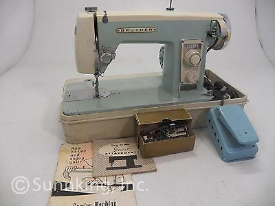 Brother 220 Sewing Machine with Attachments and Carrying Case - Serviced
