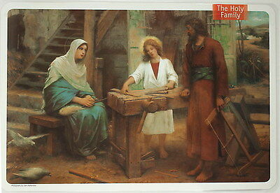 Jesus Family Mary Saint Joseph & Nazareth Basilica Church, Christian 4 PLACEMATS