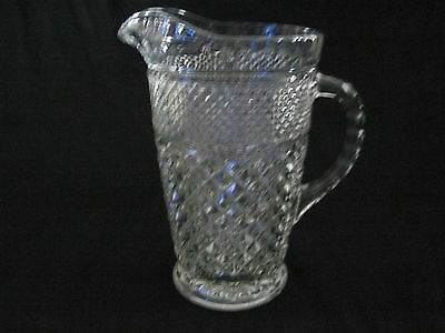 Vintage Anchor Hocking Glass WEXFORD 64 oz GLASS ICE TEA OR WATER PITCHER
