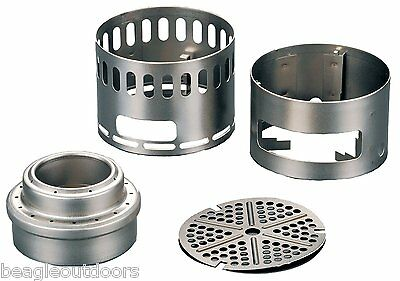 NEW Evernew Titanium Alcohol Stove DX Stand Set EBY255 Backpacking
