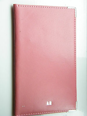 Personalised Pink Leather Golf Score Card Holder. Printed With Up to 8 Letters