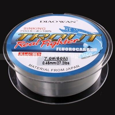New 50M Material Clear Color FLUOROCARBON Fishing Line From Japan 4.4LB-35.2LB