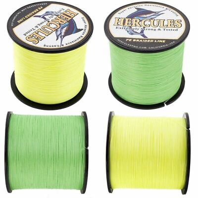 Dyneema Spectra PE 100/300/500/1000M Fluorescent Yellow Green Fishing Braid Line