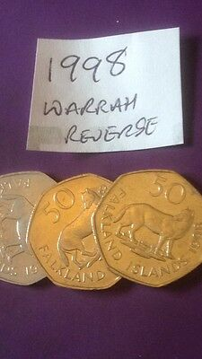 Falkland Island 50p Fifty Pence Coin Channel Island