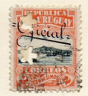 Uruguay 1912 Early Issue Fine Used 2c. Optd 135273