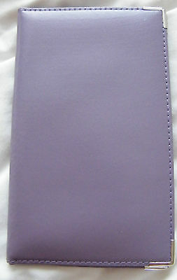 Personalised Lilac Leather Golf Score Card Holder. Printed With Up to 8 Letters