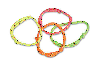 One Dozen Adjustable Rope / Cord FRIENDSHIP BRACELETS (Assorted Colors)