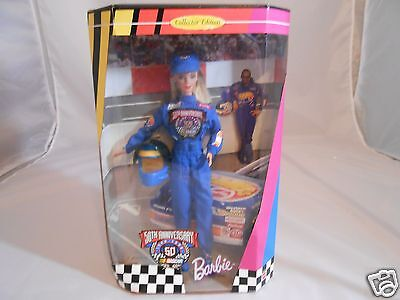 1998 Nascar 50th Anniversary Collector Ed. Barbie Doll + Accessories - NRFB  14+