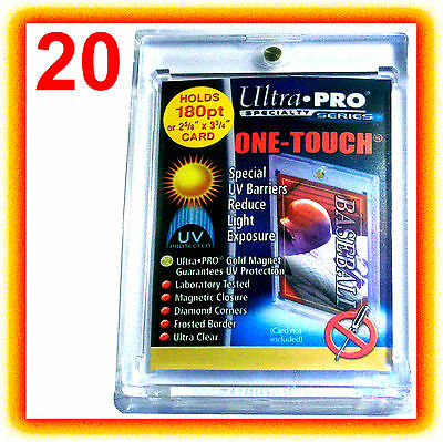 20 Ultra Pro ONE TOUCH MAGNETIC 180pt UV Card Holder Display Case 82333-UV 180