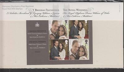 Gb 2011 Royal Wedding William & Catherine Presentation Pack No. M20 Sg Ms 3180