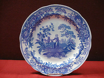 "(1) Spode Blue Room Collection Girl at Well 10 3/8"" Plate"