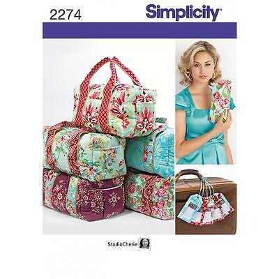Simplicity Sewing Pattern Clutch, Overnight Bag & Luggage Tag  2274 A