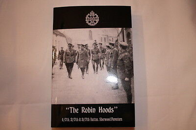 WW1 British BEF Sherwood Foresters Unit History Reference Book