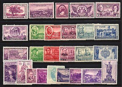 U.s. Stamps #772//802 -- 1936-1937 Commems (26) -- Complete -- Mint
