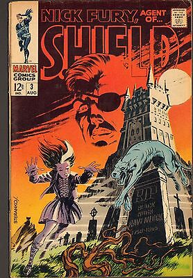 Nick Fury Agent of SHIELD #3 ~ Marvel / Steranko Cover (6.0) WH