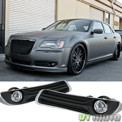 Replacement  2011-2014 Chrysler 300 Bumper Fog Lights Driving Lamps Complete Kit
