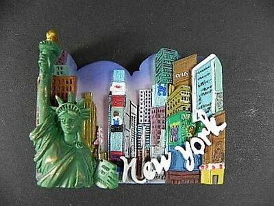 New York Magnet Freiheitsstatue Empire,Times Square,Broadway,3D Poly
