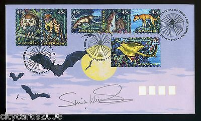 1997 AUSTRALIA - Creatures of the Night FDC  signed by Actor Simon Williams