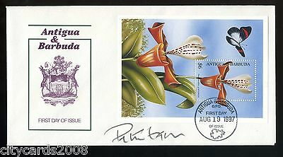 1997 ANTIGUA & BARBUDA  Orchid & Butterfly M/S signed Sir Peter Hall