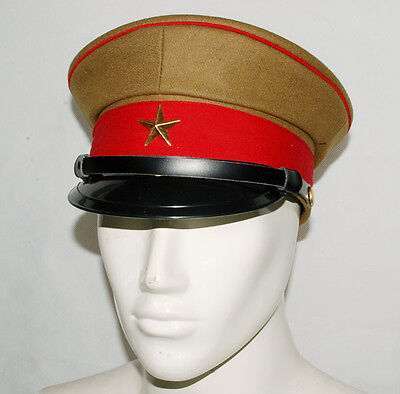 Wwii Imperial Japanese Army Officer's Wool Visor Crusher Cap Cap Hat Xl-32254