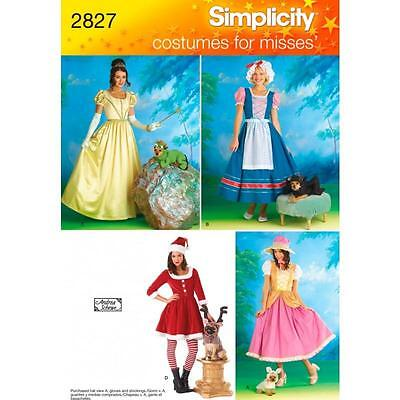 Simplicity Sewing Pattern Misses' Costume & Dog Costume Size 6 - 20 2827