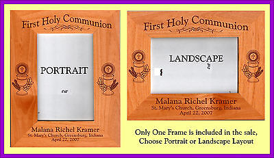 Personalized  First Holy Communion Picture Frame Gift