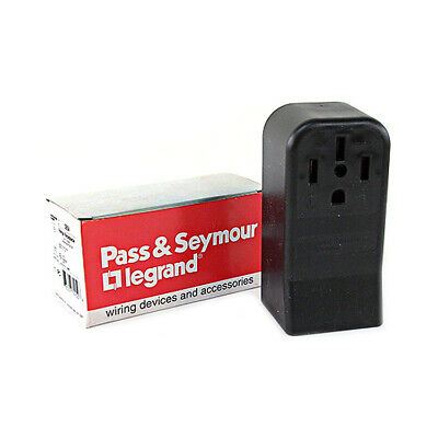 Pass & Seymour Black Range Receptacle 50A 125/250V 3P 4W # 3854