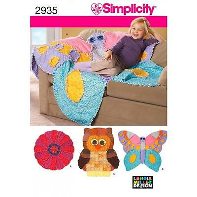 Simplicity Sewing Pattern Rag Quilts   2935