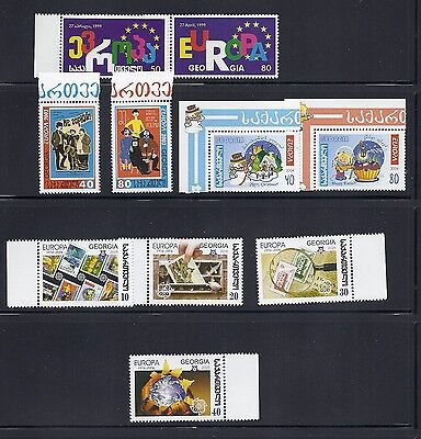 GEORGIA 1999-2006 4 different EUROPA sets VF MNH