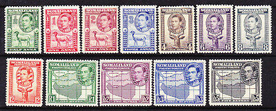 Somaliland Protectorate 1938 Kgvi Pictorials  Set 12 Mlh