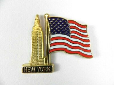 New York City Magnet Metall Empire State Building mit USA Flagge,neu
