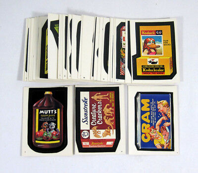 1986 Topps Wacky Packages Sticker Near Set (33/77) Nm/Mt