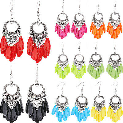 1Pair Hot Women Elegant Charming Shiny Tassel Delicate Hook Dangle Earrings Gift