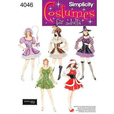 SIMPLICITY SEWING PATTERN Misses COSTUMES WITCH XMAS FAIRY  SIZE 6 - 20 4046