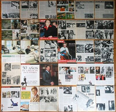 CHARLES PRINCE OF WALES spain clippings 1960s/90s +100 photos Royalty England UK