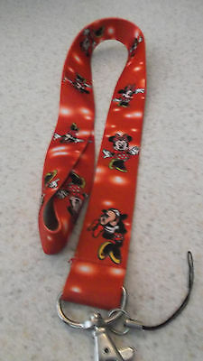 NEW_ Disney Pin / Neck  Lanyard_Child Size_ Red_ MINNIE MOUSE
