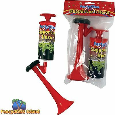 PARTY TIME SUPPORTERS PUMP ACTION AIR HORN - jokes & novelties accessory