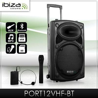 700W Mobile DJ PA Beschallungsanlage Funkmikrofon Port 12 SD USB MP3 DJ System