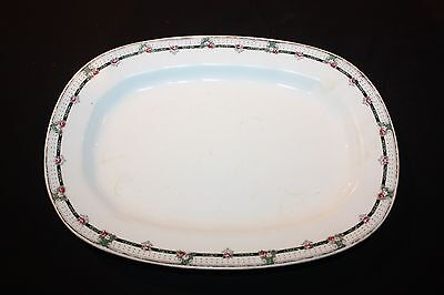 Serving Platter With Red Roses, Edwin M Knowles China Co.