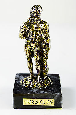 Hercules mythological hero ancient greek statue miniature golden col metal 3.1''
