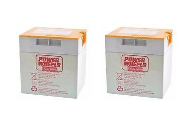 (2) Power Wheels Orange Top Battery Replacement Probe Style Connector - NEW