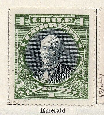 Chile 1911 Early Issue Fine Used 1p. 135807