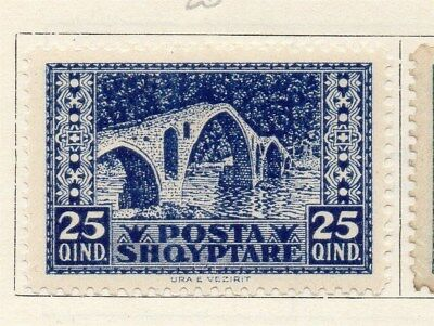 Albania 1922 Early Issue Fine Mint Hinged 25q. 135823