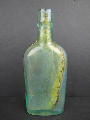 "Antique Pre-1900s Wyckoff & Cos Union Bluing Glass Bottle 5-7/8"" H"