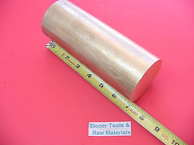 "2-1/2"" C360 BRASS ROUND ROD 7"" long Solid 2.50"" OD x 7.0"" H02 Lathe Bar Stock"