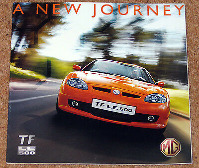 2007 MG TF LE 500 Sales Brochure / Poster