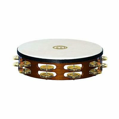 Meinl TAH2B-AB Headed 2 Brass Row Percussion Tambourine African Brown