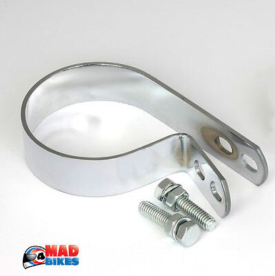 """Universal Silencer Exhaust Mounting Bracket. Fits 2 7/8"""" Pipe Off Set Hanger"""