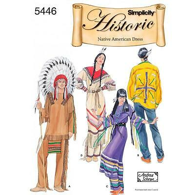 SIMPLICITY SEWING PATTERN Men and Women Native American Wardrobes 5446
